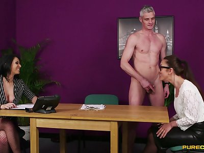 Aroused office MILF gets intimate along with one of her colleagues