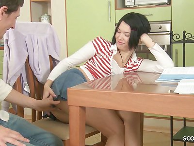 Cute Virgin Sister First Deep Anal Fuck by Big Cock Step Bro