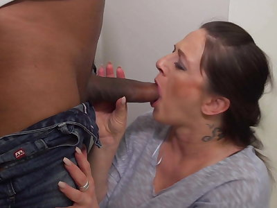 Mature mother with big jugs takes BBC