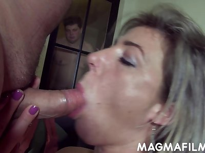 Regular cuckolding set-to of a feminised man by his sex starved wifey