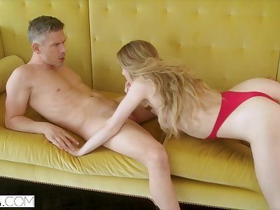 HELLCAT Steamy Mistress Loves Teasing their way Man in Front of his Wife