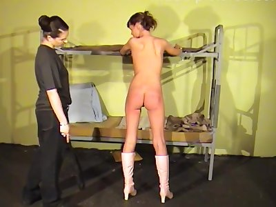 Amateur babes stripped and spanked unconnected with a dominant mistress