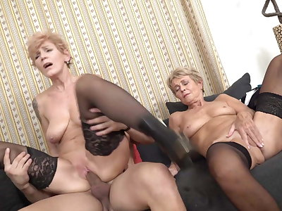 Mature sluts drag inflate and have sex young cocks
