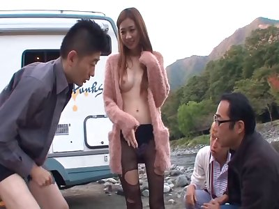 Not at home sex in front be useful to people with provocative Meada Kaori