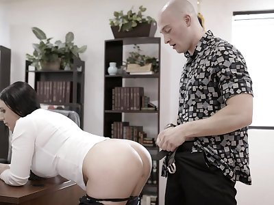 In the altogether dude lay on fucks the shit get off on his too strict busty boss
